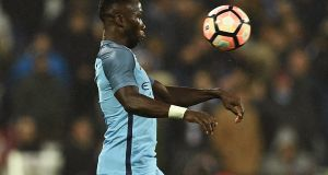 Manchester City's Bacary Sagna has been fined for a social media post made earlier this month. Photograph: Getty Images