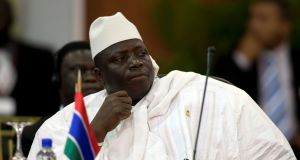 Gambia's president Al Hadji Yahya Jammeh: Refuses to hand power to opposition leader Adama Barrow. Photograph: Carlos Garcia Rawlins/Reuters