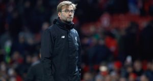 Jurgen Klopp: the Liverpool manager disclosed that Fifa had informed Liverpool they will review the Joël Matip  situation on Friday. Photograph: PA