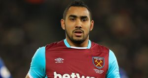 West Ham United have rejected a second offer from Marseille for forward Dimitri Payet. Photograph:  Mike Egerton/PA Wire