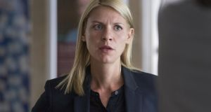 Claire Danes as Carrie Mathison in Homeland. Photograph: Jo Jo Whilden/SHOWTIME