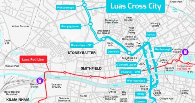 Map Of Dublin 7 Ireland.Dublin 7 Sees Property Uplift As Luas Approaches