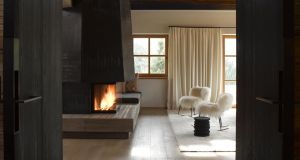Paola Navone's Nepal chair for Italian firm Baxter has a metal frame with stove-enamel finish, and is upholstered in Mongolian lamb and can be ordered as either a chair or rocker. In this chalet project by Austrian-based architecture practice Bernd-Gruber (Bernd-Gruber.eu) it looks perfectly at home in gorgeous off-piste white but is also available in slate blue. The practice is based in Kitzbuhl, in the heart of the nation's ski slopes and the chairs can be ordered from it or locally from Minima (minimahome.com) and cost from €2,395.