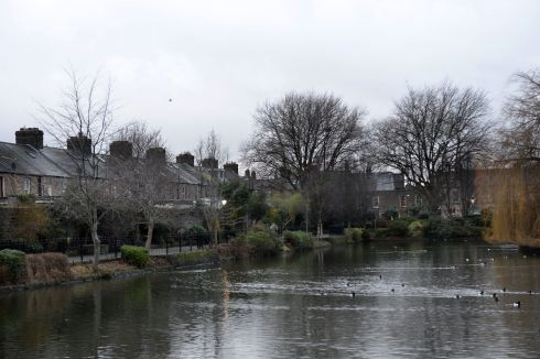 Blessington Street Basin, in Dublin located close to the Luas stops at Dominick St and Broadstone, along the Luas Cross City track.  Photograph: Dara Mac Donaill / The Irish Times