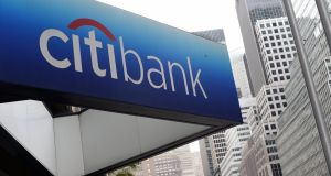 Citigroup's profit rose 7.1 per cent on a 36 per cent jump in fixed-income revenue, while earnings at New York-based Goldman Sachs more than tripled, with bond trading up 78 per cent. Photograph: Timothy Clary/AFP/Getty