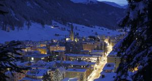 A global who's who has descended on the Swiss town of Davos for the World Economic Forum. Photograph: Simon Dawson/Bloomberg