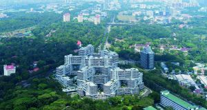 The Interlace in Singapore, by Ole Sheeren.