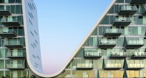 The Wave in Vejle, Denmark, by  Henning Larsen Architects.
