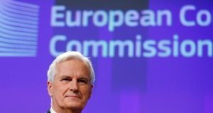 EU chief Brexit negotiator  Michel Barnier: It is significant  that there is no express provision in article 50 allowing for  countries actually bordering an  exiting member state to be directly involved in the negotiations. Photograph:  François Lenoir/Reuters/File