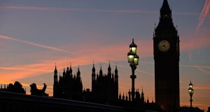 Houses of Parliament and Big Ben: as the sun sets on Britain's membership of the EU, Ireland counts the cost of a new customs deal. Photograph: Daniel Leal-Olivas/AFP/Getty Images
