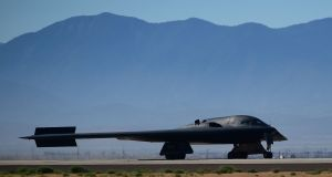 A B-2 stealth bomber photographed in California in 2014. This was the aircraft used to bomb Islamic State targets in Libya on Wednesday. File photograph: Frederic J Brown/AFP/Getty Images