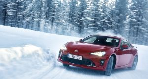 On the loose snow and ice the GT86's rear tail can be swung like a pendulum with the merest input of throttle and the flick of the wheel