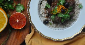Lamb and blood orange tagine