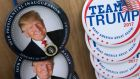 Buttons on sale ahead of US president-elect Donald Trump's inauguration in Washington, DC, US. Photograph: Shawn Thew/EPA