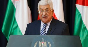 President Mahmoud Abbas: succession  issue has led to infighting. Photograph:  Mussa Qawasma/Reuters