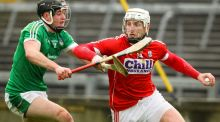 Patrick Horgan in action for Cork against Limerick's Stephen Cahill  in the Munster Senior Hurling League at the  Gaelic Grounds. Photograph:  Ken Sutton/Inpho