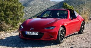 The Mazda MX-5 RF is available from February with prices starting from €31,495 for the 1.5 RF. The two-litre GT is €36,695 and €300 more gets full tan leather.