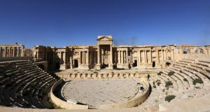 A view shows the Roman theatre in the historical city of Palmyra, in Homs Governorate, Syria April 1st, 2016. Photograph:  Omar Sanadiki/Reuters