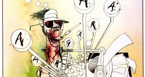 Ralph Steadman cartoon of Hunter Thompson, from the 2008 documentary Gonzo: The Life and Work of Hunter S Thompson directed by Alex Gibney