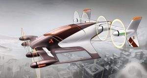 A concept drawing from Airbus's Project Vahana