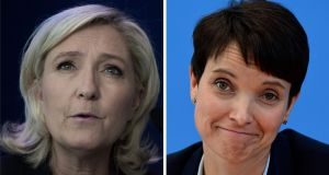 Front National leader Marine Le Pen and Alternative für Deutschland co-leader Frauke Petry:   meeting  between the two sparked  dissent in the German party