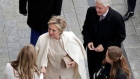 Hillary Clinton arrives to Donald Trump's inauguration