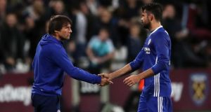 Chelsea manager Antonio Conte insists that Diego Costa wants to stay at the the club.  Photograph: Nick Potts/PA Wire