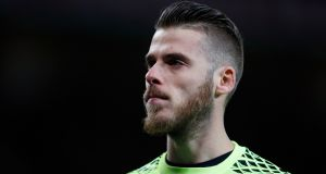 Rumours have resurfaced that Manchester United goalkeeper David De Gea  is a transfer target of Real Madrid. Photograph: Phil Noble/Reuters