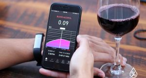 Proof is wrist band that measures blood alcohol levels