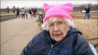 100-year-old Trump protester on why she marched on Washington