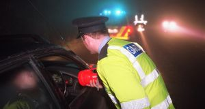 New figures show that between December 1st and January 8th, a total of 961 people were detained on suspicion of drink-driving. Photograph: Frank Miller