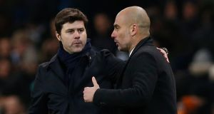 After the game  Guardiola and Pochettino were  invited to give their views on the   pivotal refereeing decision. They said the same thing, but in very different ways. Photograph: Andrew Yates Livepic/Reuters