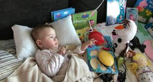 Nellie Lannen was diagnosed with spinal muscular atrophy type one (SMA1) at seven months old.