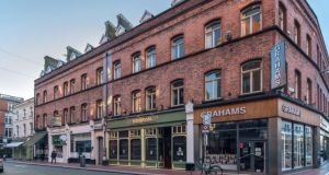 The property portfolio for sale includes St Andrew's House, a four-storey over-basement Georgian block with five shops fronting on to Exchequer Street, as well as two more retail outlets on South William Street.