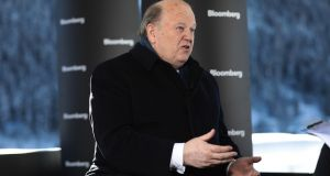 Michael Noonan at the World Economic Forum in Davos, Switzerland, last weekend Photographer: Simon Dawson/Bloomberg