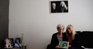 Antoinette Keegan (right) who survived the Stardust fire tragedy but lost her sisters Mary and Martina in the blaze. She is pictured with her mother Christine. Photograph: Bryan O'Brien