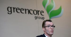 Greencore CEO Patrick Coveney addresses shareholders at the Greencore Group AGM in Dublin. File photograph: Eric Luke/The Irish Times