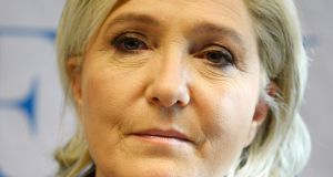 French National Front (FN) leader Marine Le Pen. Photograph: Roberto Pfeil/AFP