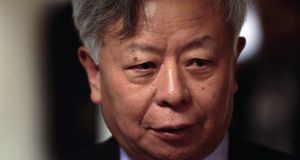 Jin Liqun, president of the AIIB, said on Monday that an expanded membership would help boost lending by the $100 billion multilateral organisation, which was founded last year with 57 founding shareholders in spite of opposition from the US. (Photograph: Jason Alden/Bloomberg)