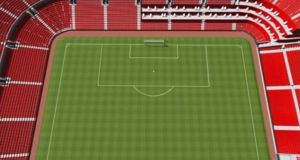 The current layout of disabled areas in Old Trafford.