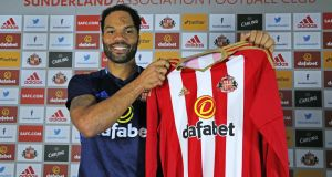 Joleon Lescott is pictured after signing with Sunderland AFC at The Academy of Light. Photo: Ian Horrocks/Sunderland AFC