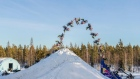 Daniel Bodin lands the first ever double backflip on a snowmobile