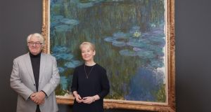 Barberini is financed and filled with art by billionaire Hasso Plattner (pictured left) with museum director Dr Ortrud Westheider in front of Claude Monet's Water Lilies, 1914–1917