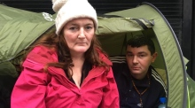 Homeless couple living in tent off O'Connell street for weeks
