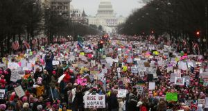 The Women's March in Washington, DC, US, on January 21st. Photograph: Mario Tama/Getty Images