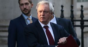 "David Davis: wants to ""preserve the situation"" in the North. Photograph: Daniel Leal-Olivas/AFP/Getty"