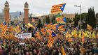 Polls show Catalans are evenly divided on the independence issue. Photograph: Luis Gene/AFP/Getty Images