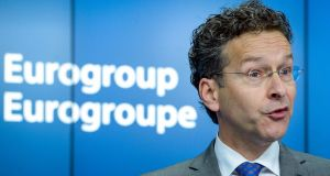 "Eurogroup chairman Jeroen Dijsselbloem on post-Brexit Britain: ""We have heard threats of going rogue and creating an offshore tax haven. That would be a huge mistake."" Photograph:  Stephanie LeCocq/EPA"