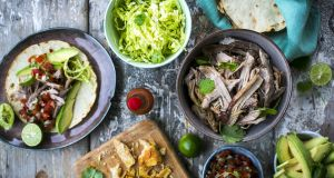 Beer-braised pork carnitas