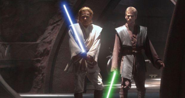 Jedi Obi-Wan Kenobi (Ewan McGregor) and his apprentice, Anakin Skywalker (Hayden Christensen) in Star Wars Episode II: Attack of the Clones. Photograph: Lucasfilm/Reuters